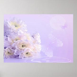 Flor blanca impresiones