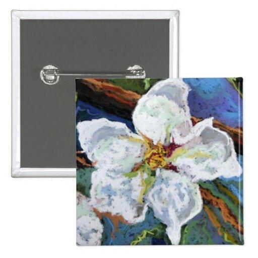Flor blanca que pinta el Pin