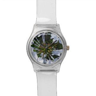 Flor blanca relojes de mano