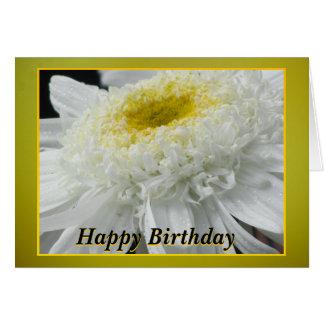 Flor blanca y amarilla tarjeta de felicitación
