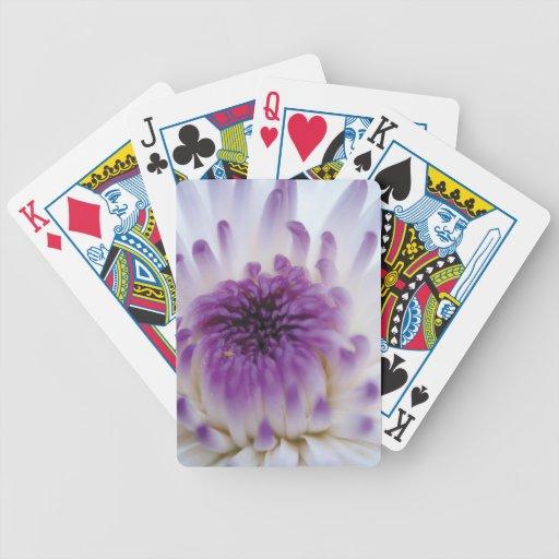 Flor blanca y púrpura baraja