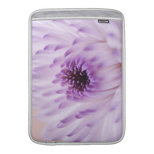 Flor blanca y púrpura funda para macbook air