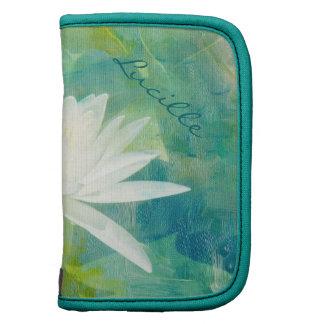 Flor blanco de Waterlily Planificadores