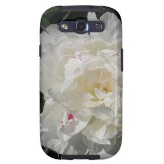 Flor blanco del Peony - fotografía Galaxy S3 Carcasa