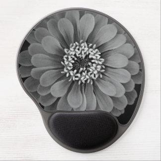 Flor blanco y negro (cojín de ratón) alfombrilla gel