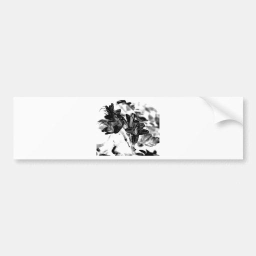 Flor blanco y negro pegatina para auto