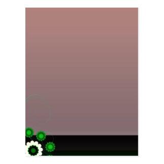 Flor blanco y verde único tarjeta postal