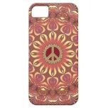 Flor bohemia de la paz del caso del iPhone 5 de la iPhone 5 Case-Mate Protector