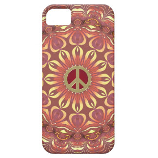 Flor bohemia de la paz del caso del iPhone 5 de la iPhone 5 Carcasa