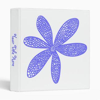 """Flor bonita - azul eléctrico (los 1.0in) carpeta 1"""""""
