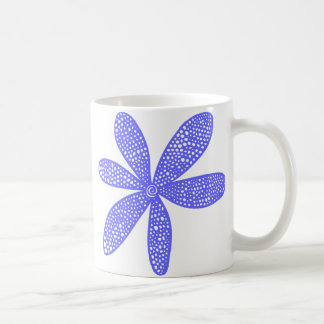 Flor bonita - azul eléctrico taza