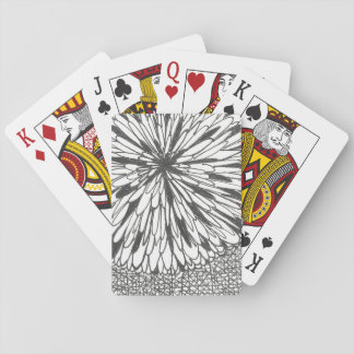 flor bonita baraja de póquer