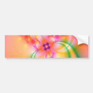 Flor bonita con las cintas pegatina para auto