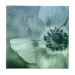 Flor bonita de la anémona teja cerámica