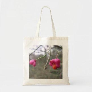 Flor bonita del árbol de eje bolsa tela barata