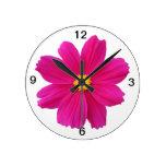 flor bonita del cosmos relojes