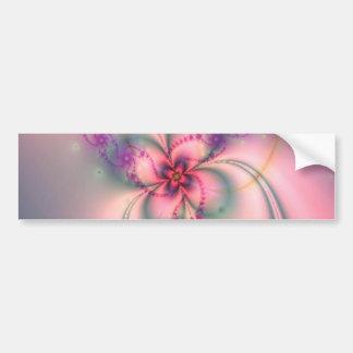 Flor bonita del fractal pegatina de parachoque