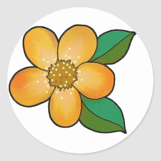 Flor bonito - 002 pegatina redonda