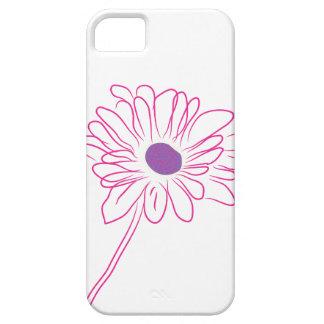 Flor bosquejada púrpura funda para iPhone SE/5/5s