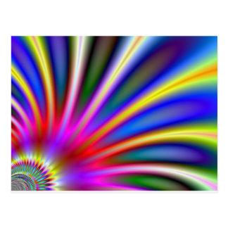 Flor brillante como diseño del extracto del postales