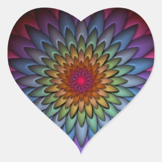 Flor brillante hermosa del arco iris pegatinas