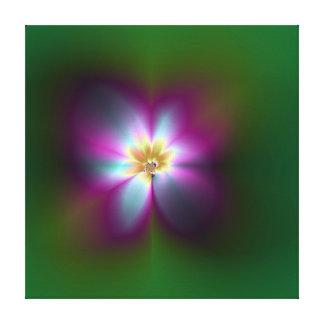 Flor brillante - ilustraciones del fractal impresiones en lona estiradas