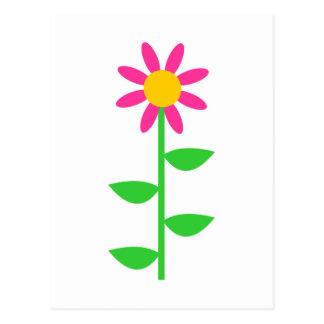Flor brillante tarjetas postales