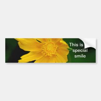 Flor brillante y significado del Coreopsis Etiqueta De Parachoque