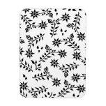 Flor, brote y hoja imanes rectangulares