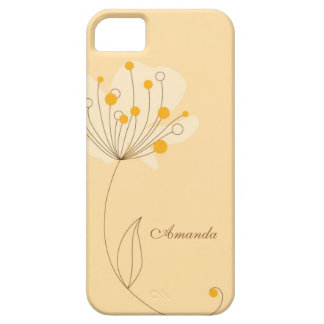 Flor caprichosa en amarillo funda para iPhone 5 barely there