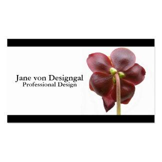 Flor carnívora de la planta de jarra tarjetas de visita