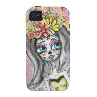 Flor caso de Dia De Los Muertos IPhone Vibe iPhone 4 Carcasa