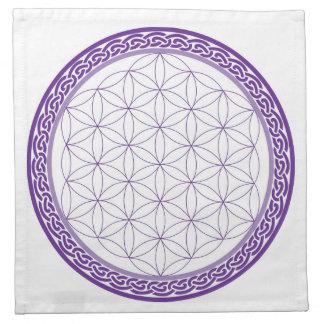 Flor céltica de la rejilla de la vida para el trab servilleta imprimida