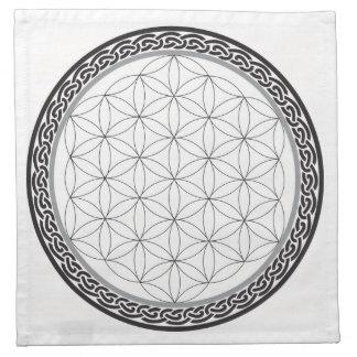 Flor céltica de la rejilla de la vida servilletas de papel
