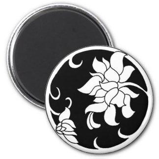 Flor china del Peony - imán