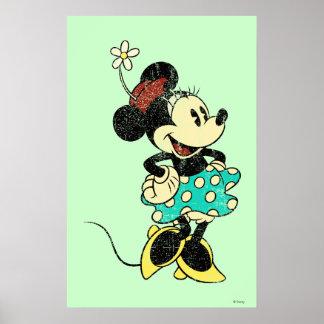 Flor clásica del vintage de Minnie el | Póster