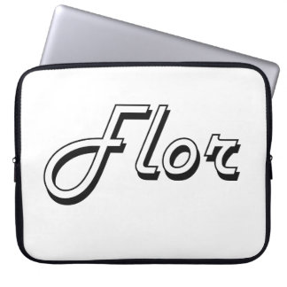 Flor Classic Retro Name Design Computer Sleeves