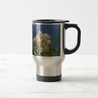 Flor color crema taza de viaje