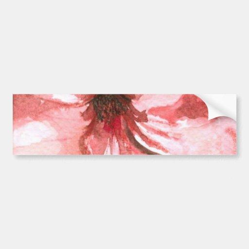 Flor, color de agua, tropical pegatina de parachoque