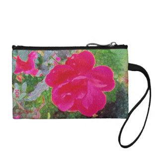Flor color de rosa rosada fucsia en la floración