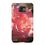 Flor color de rosa rosado samsung galaxy SII carcasa