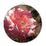 Flor color de rosa rosado tabla dardos