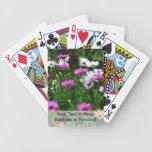 flor coloreada multi del campo de las margaritas d baraja de cartas