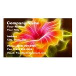 Flor colorida brillante del hibisco tarjeta de visita