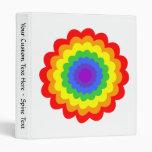Flor colorida brillante en colores del arco iris