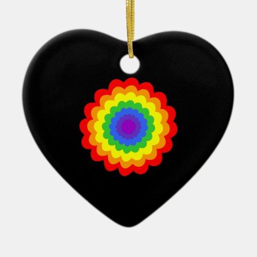 Flor colorida brillante en colores del arco iris adorno para reyes