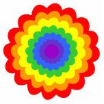 Flor colorida brillante en colores del arco iris esculturas fotográficas