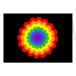 Flor colorida brillante en colores del arco iris tarjeton