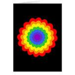 Flor colorida brillante en colores del arco iris felicitación