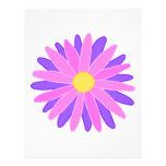 Flor colorida brillante. Rosa y púrpura Tarjeta Publicitaria
